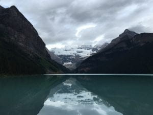 The tranquillity of Lake Louise in the morning