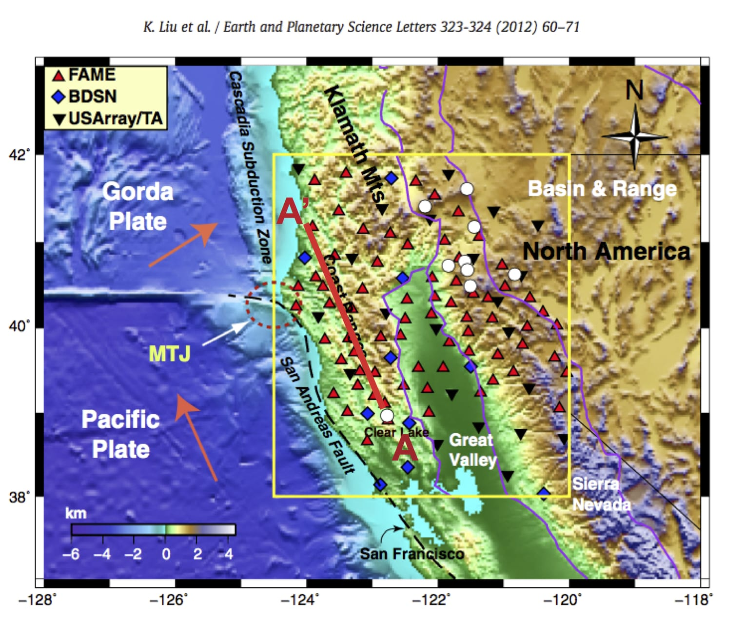 Rice Earth Environmental Planetary Sciences Making The San - Map of san andreas fault line