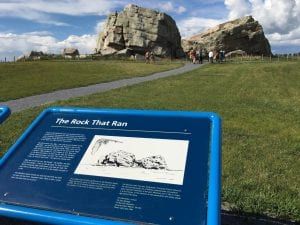 Big Rock Erratic: The huge chunk of quartzite was transported by glacier in the Last Glacial maximum and is dissected longitudinally reason of which is still debated.