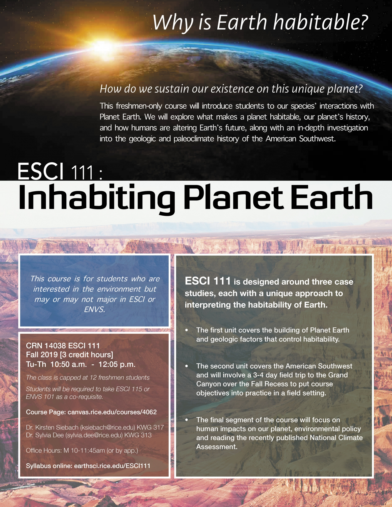 Rice Earth, Environmental & Planetary Sciences | ESCI 111